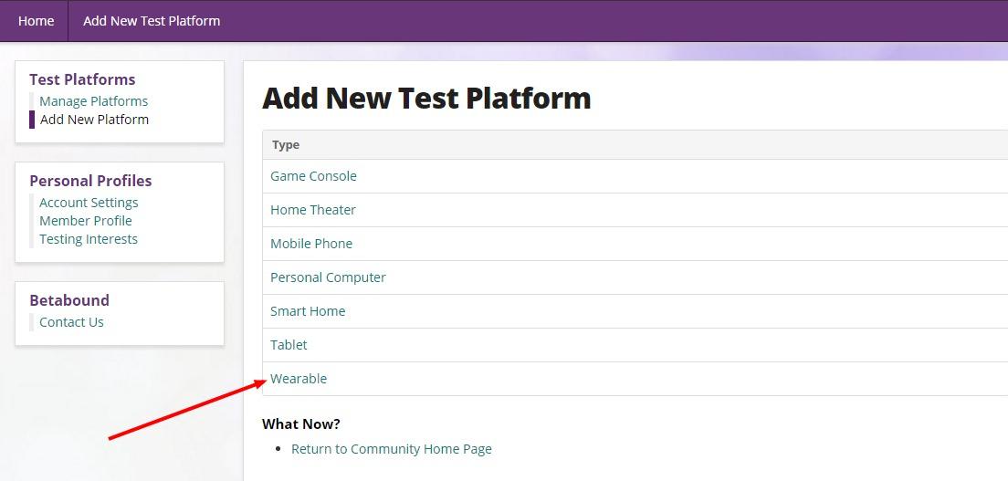 Screen Shot - Betabound Wearable Test Platform 2