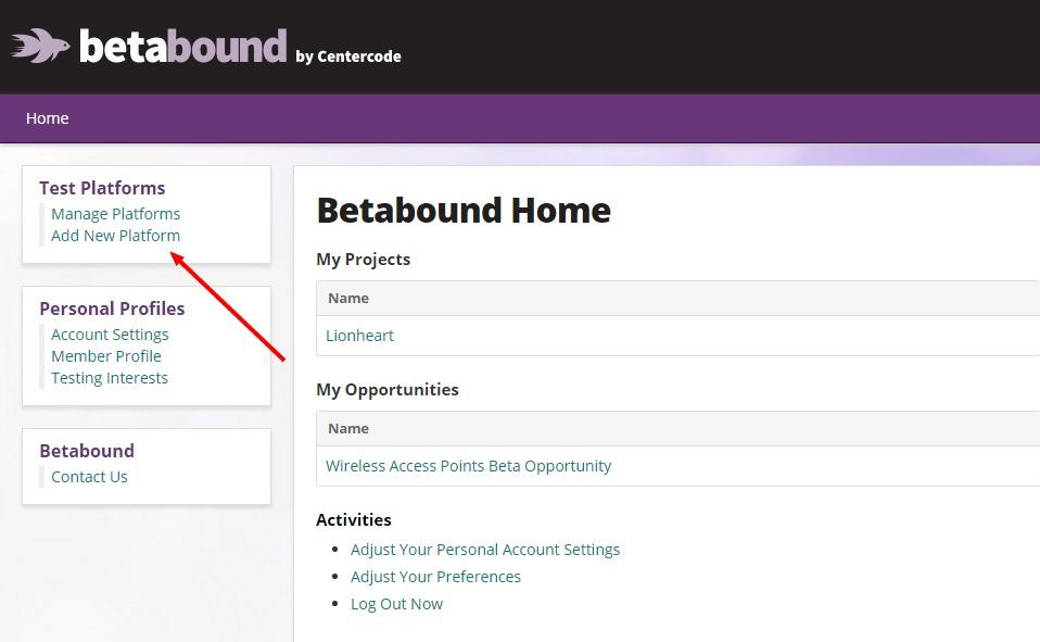 Screen Shot - Betabound Wearable Test Platform 1