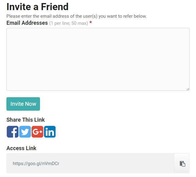 Invite a Friend Screenshot
