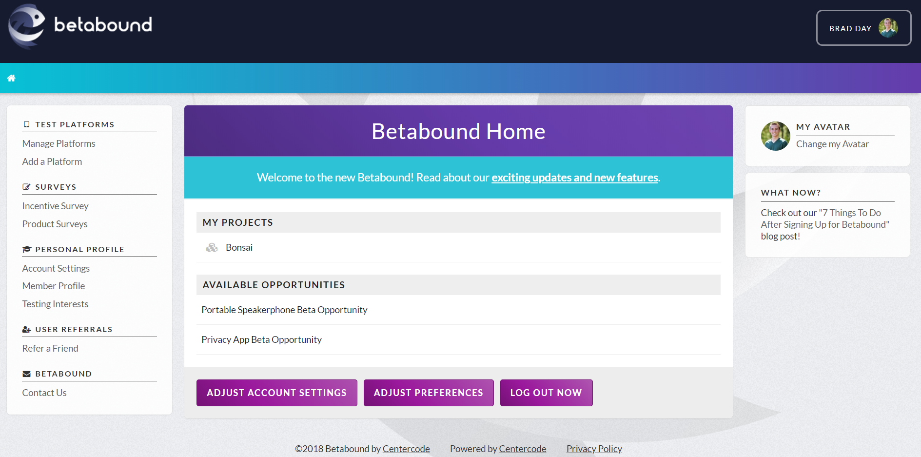 Betabound-Home